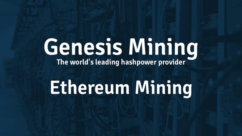 Genesis Ethereum mining contract